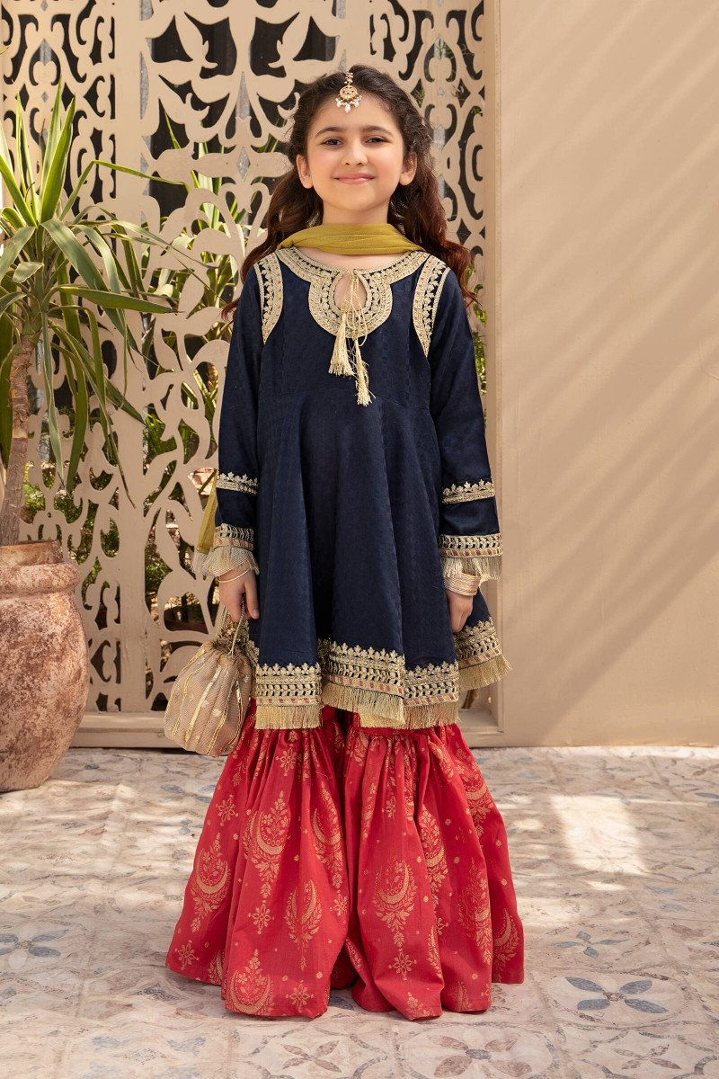 MARIA B   KIDS Collection   Suit Blue MKD-EF21-29