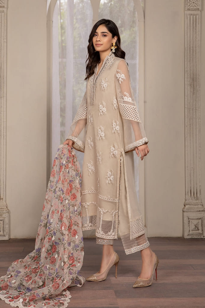 MARIA B | READY TO WEAR EVENING WEAR | Suit Off White SF-EF21-05