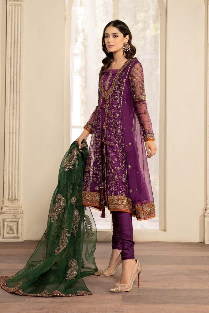 MARIA B | READY TO WEAR EVENING WEAR | Suit Purple SF-EF21-08