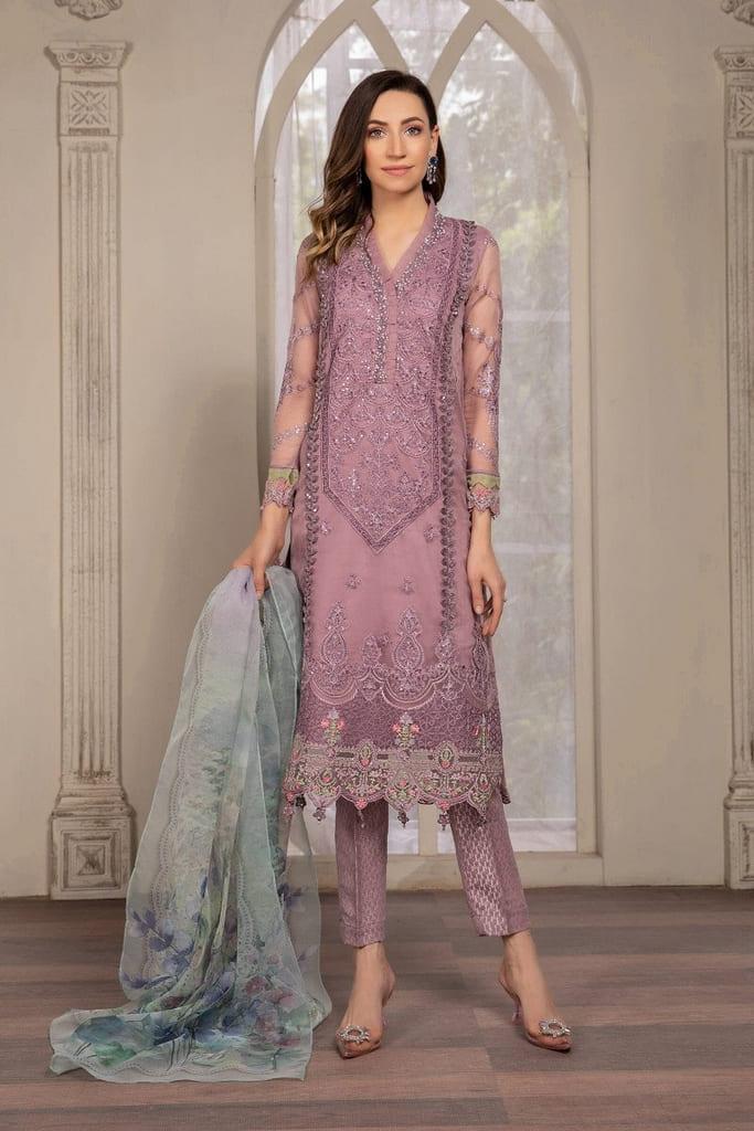 MARIA B | READY TO WEAR EVENING WEAR | Suit Purple SF-EF21-14