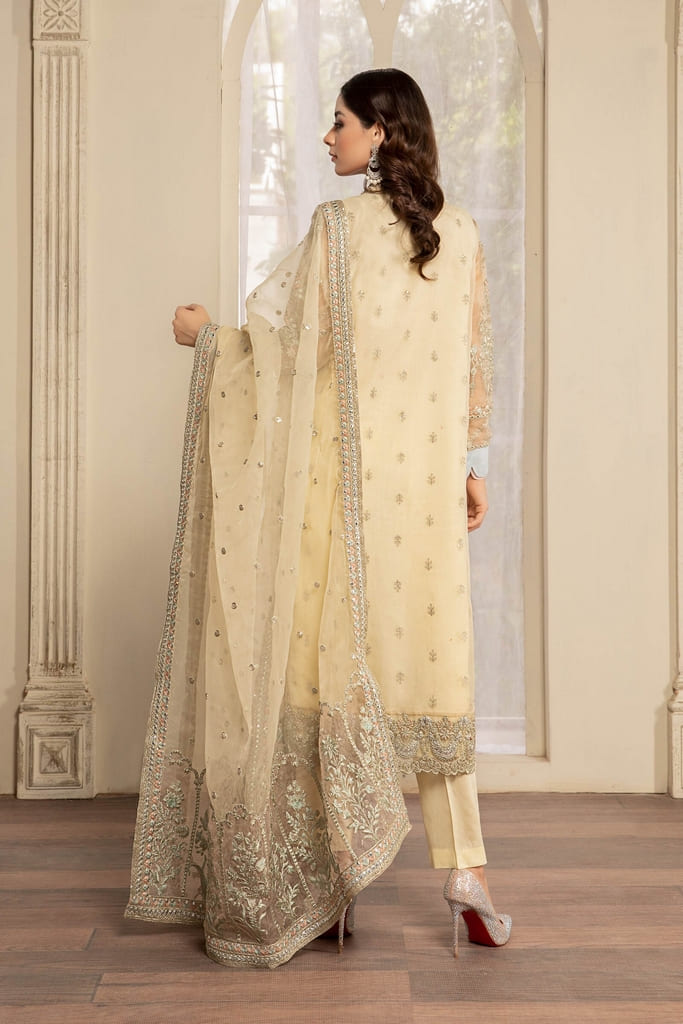 MARIA B | READY TO WEAR EVENING WEAR | Suit Off White SF-EF21-18