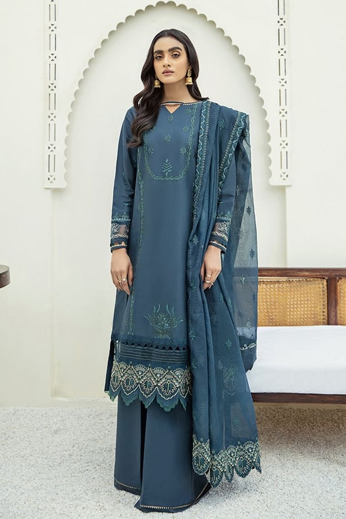 XENIA | MARMA EMBROIDERED LAWN | NAFEES