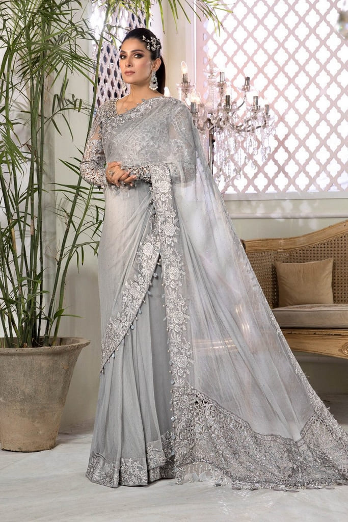MARIA B | MBROIDERED HERITAGE Collection | Silver Grey (BD-2201)