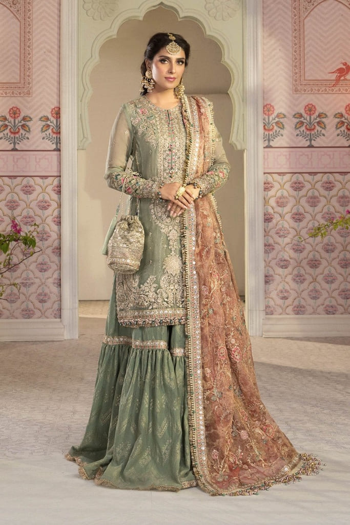 MARIA B | MBROIDERED HERITAGE Collection | Pistachio Green