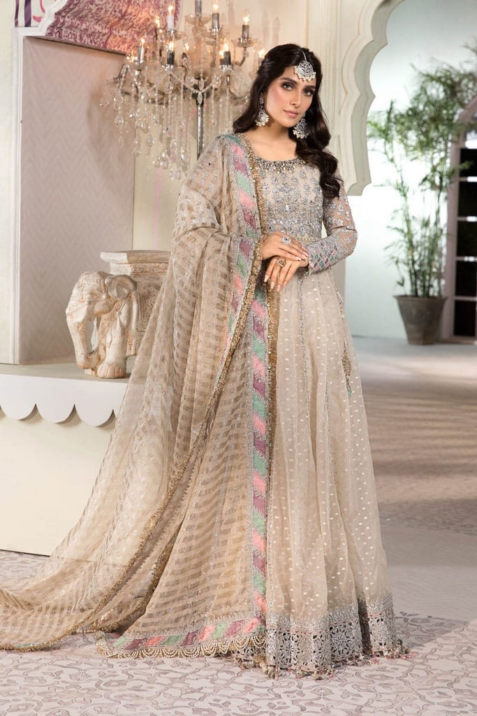 MARIA B | MBROIDERED HERITAGE Collection | Pearl White (BD-2208)
