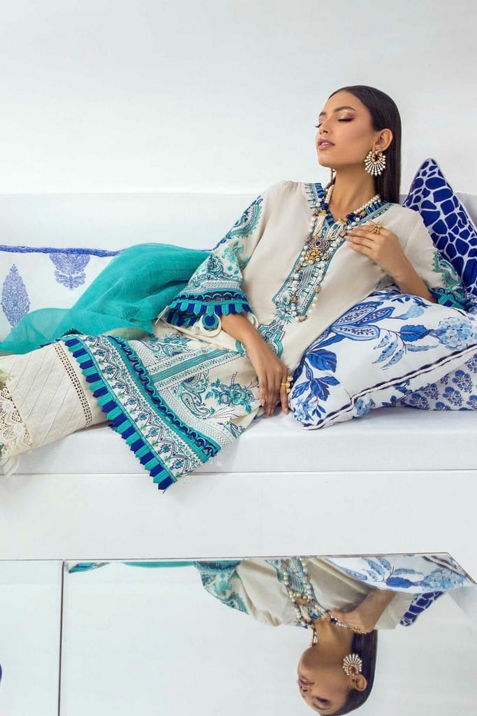 SANA SAFINAZ | MUZLIN SUMMER'21 Collection | M213-001B-CT