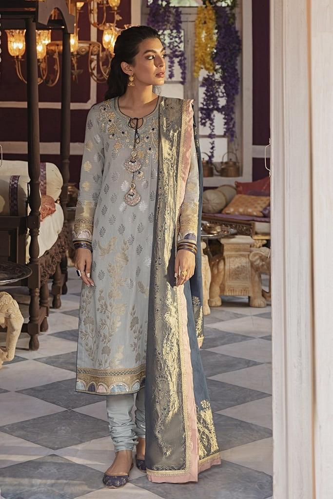 CROSS STITCH | RIM JHIM Collection'21 | TRAAB-E KOYAL A