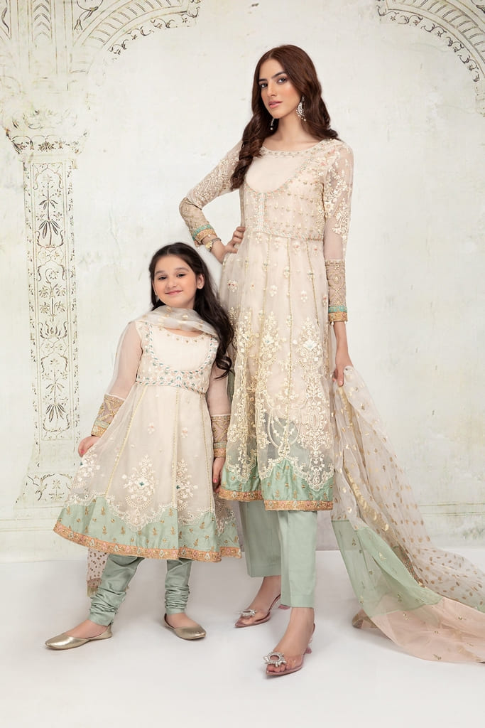 MARIA B | MOMMY N ME/KIDS Collection | Suit Off White MKS-EF21-24