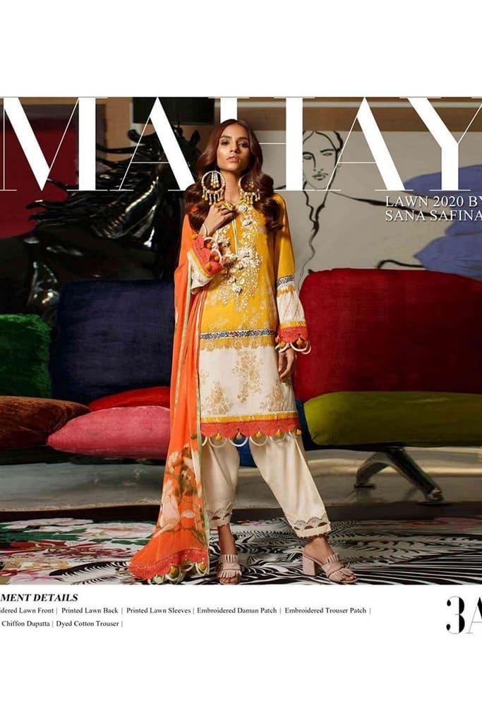 SANA SAFINAZ   MAHAY LAWN Collection   3A