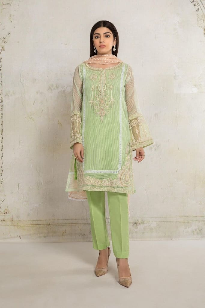 MARIA B   READY TO WEAR CASUAL Collection   Suit Green DW-EA20-20