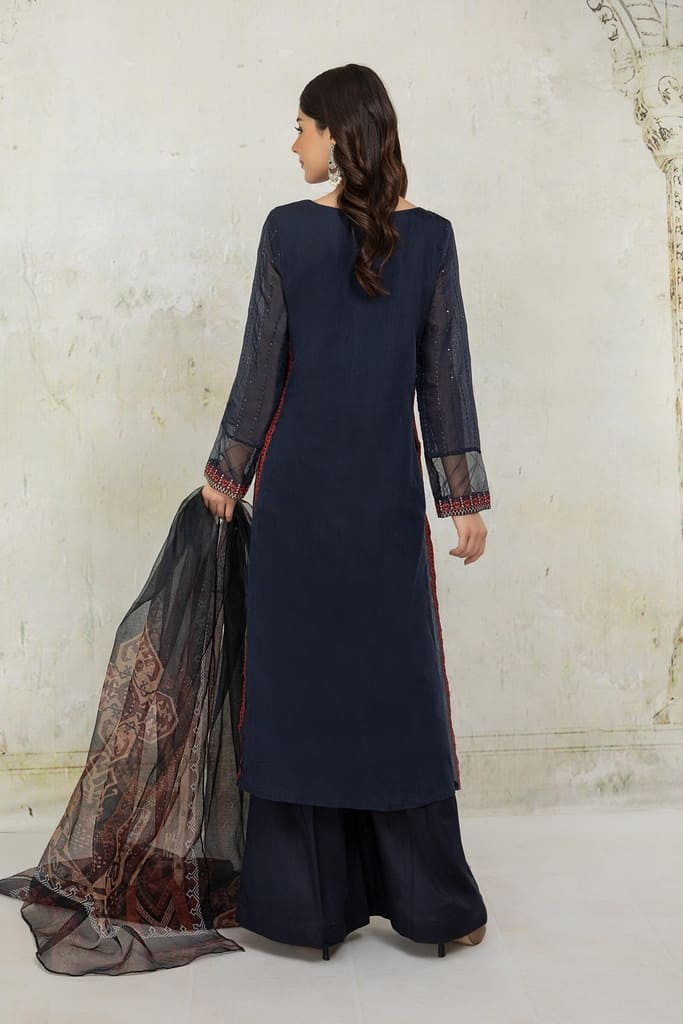 MARIA B | READY TO WEAR CASUAL Collection | Suit Blue DW-EA21-09