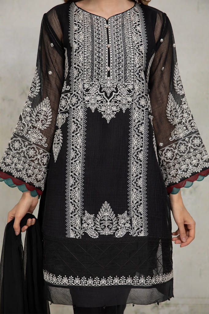 MARIA B   READY TO WEAR CASUAL Collection   Suit Black DW-EA21-36
