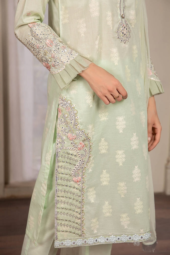 MARIA B | READY TO WEAR CASUAL Collection | Suit Light Green DW-EF21-09