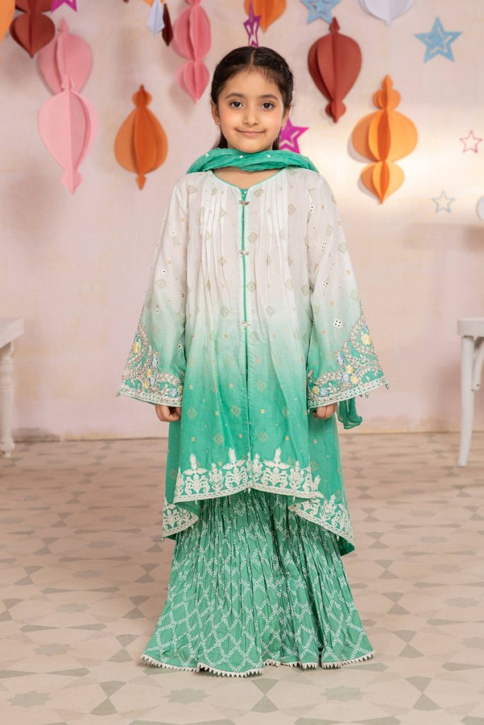 MARIA B | MOMMY N ME/KIDS Collection | Suit Aqua MKD-EF21-04