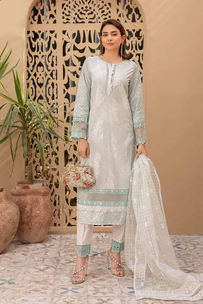 MARIA B | READY TO WEAR CASUAL Collection | Suit Light Blue DW-EF21-26