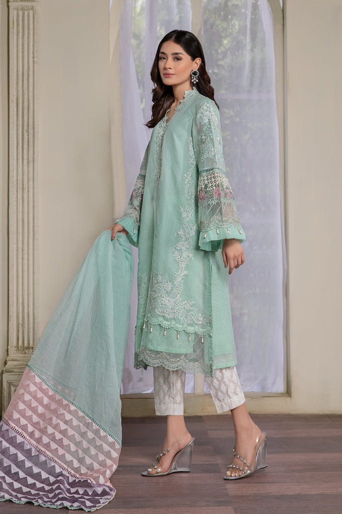 MARIA B   READY TO WEAR CASUAL Collection   Suit Green DW-EF21-30