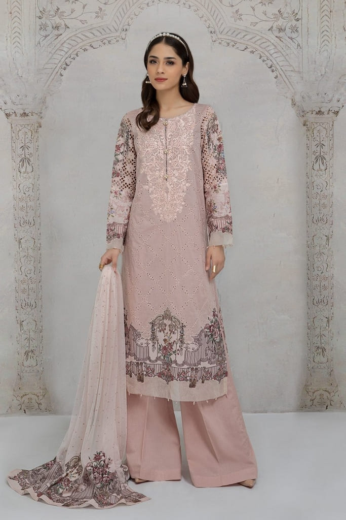 MARIA B | READY TO WEAR CASUAL Collection | Suit Pink DW-SS21-13