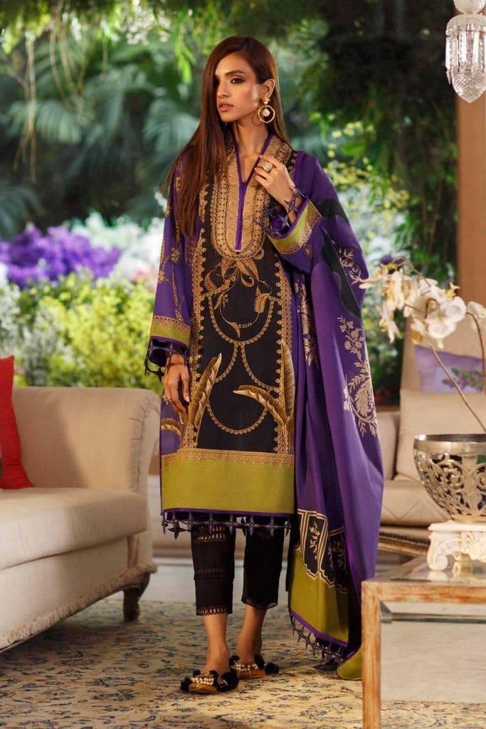 SANA SAFINAZ   MAHAY LAWN Collection'20  12A-Bg