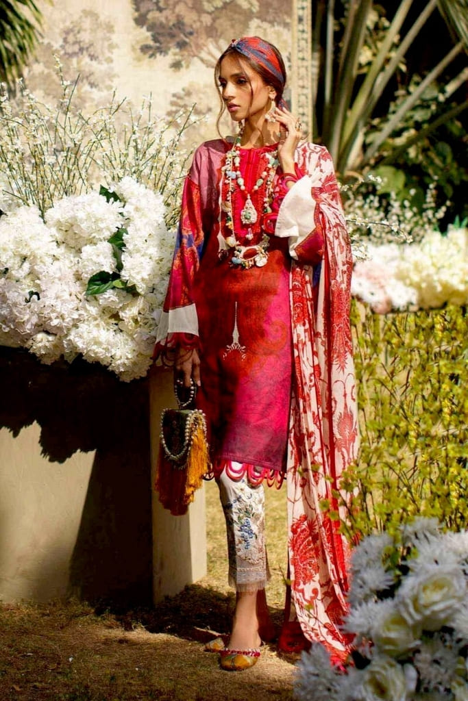 SANA SAFINAZ   MAHAY LAWN Collection'20   2B-Bi