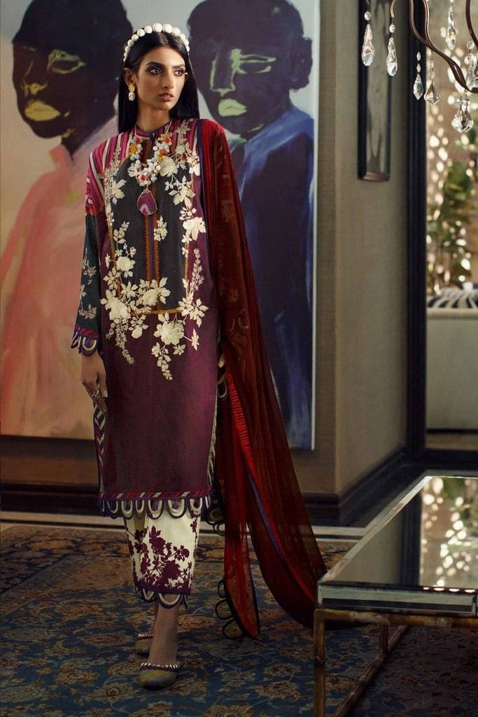 SANA SAFINAZ | MAHAY LAWN Collection'20 | 7A-Ci