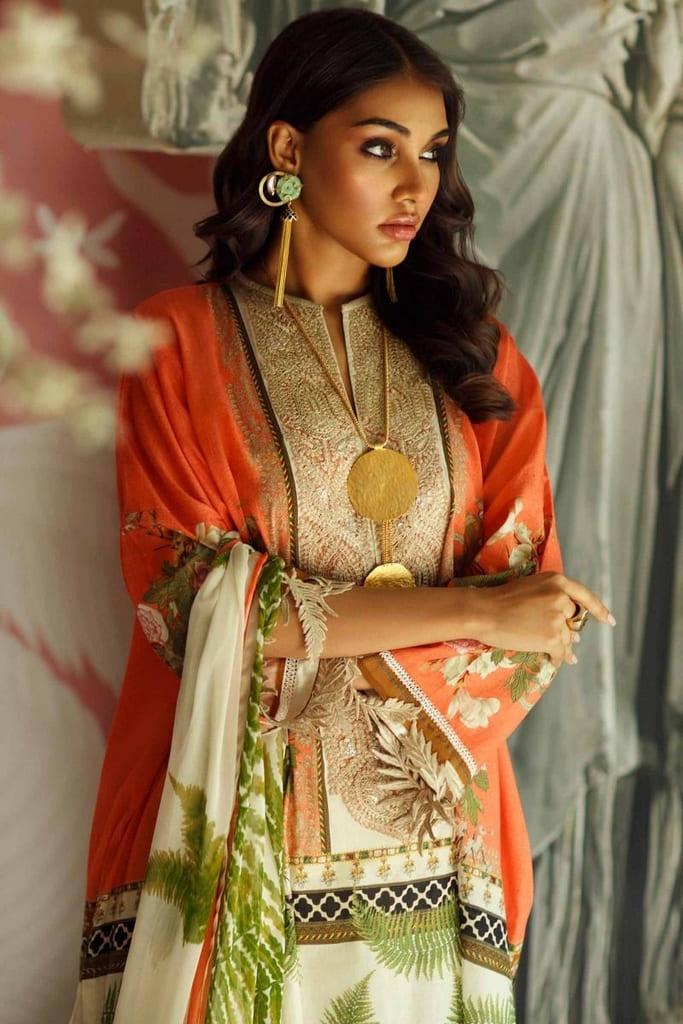 SANA SAFINAZ   MAHAY LAWN Collection'20   8A-Bi