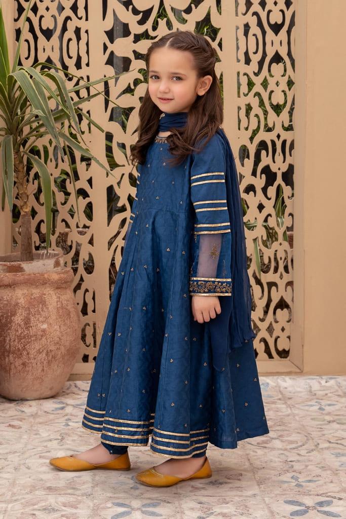MARIA B   KIDS Collection   Suit Blue MKD-EA20-01