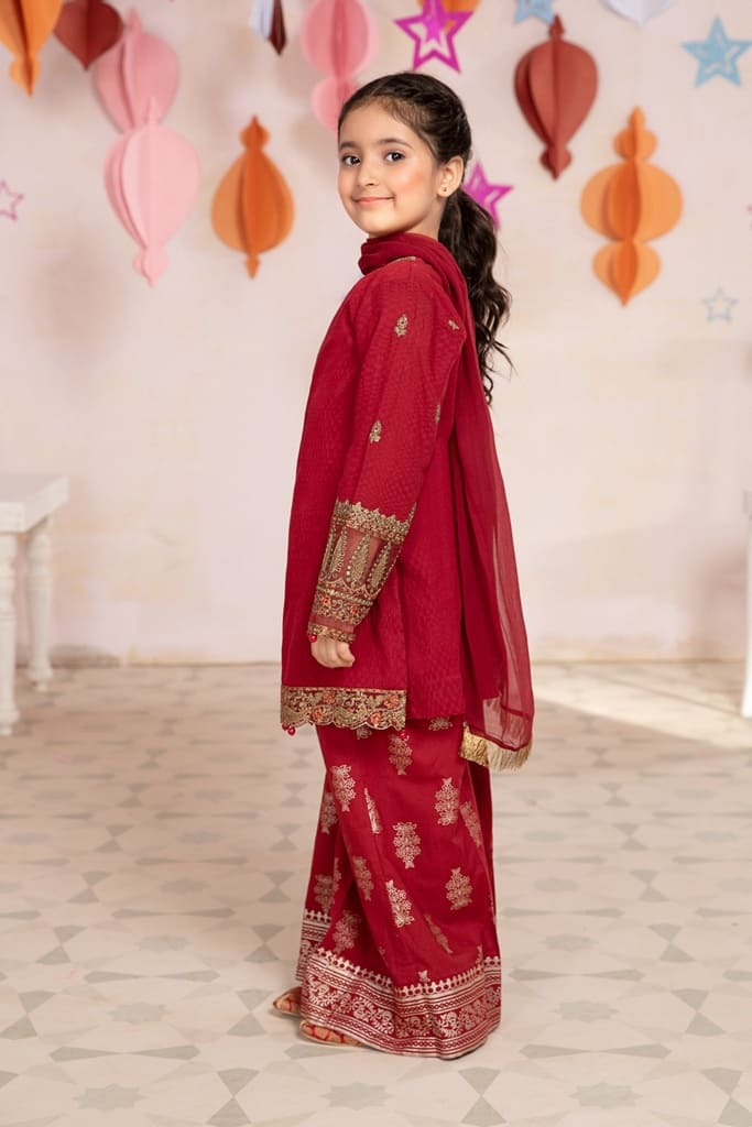 MARIA B | MOMMY N ME/KIDS Collection | Suit Red MKD-EA21-17
