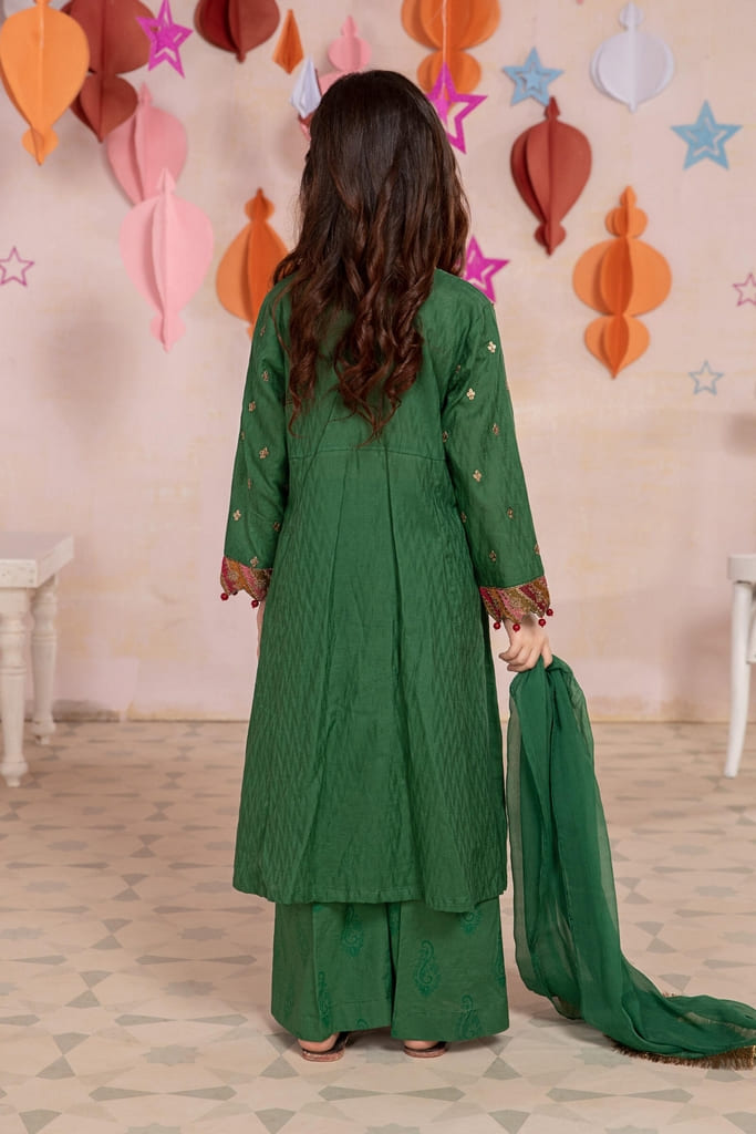 MARIA B | MOMMY N ME/KIDS Collection | Suit Green MKD-EA21-18