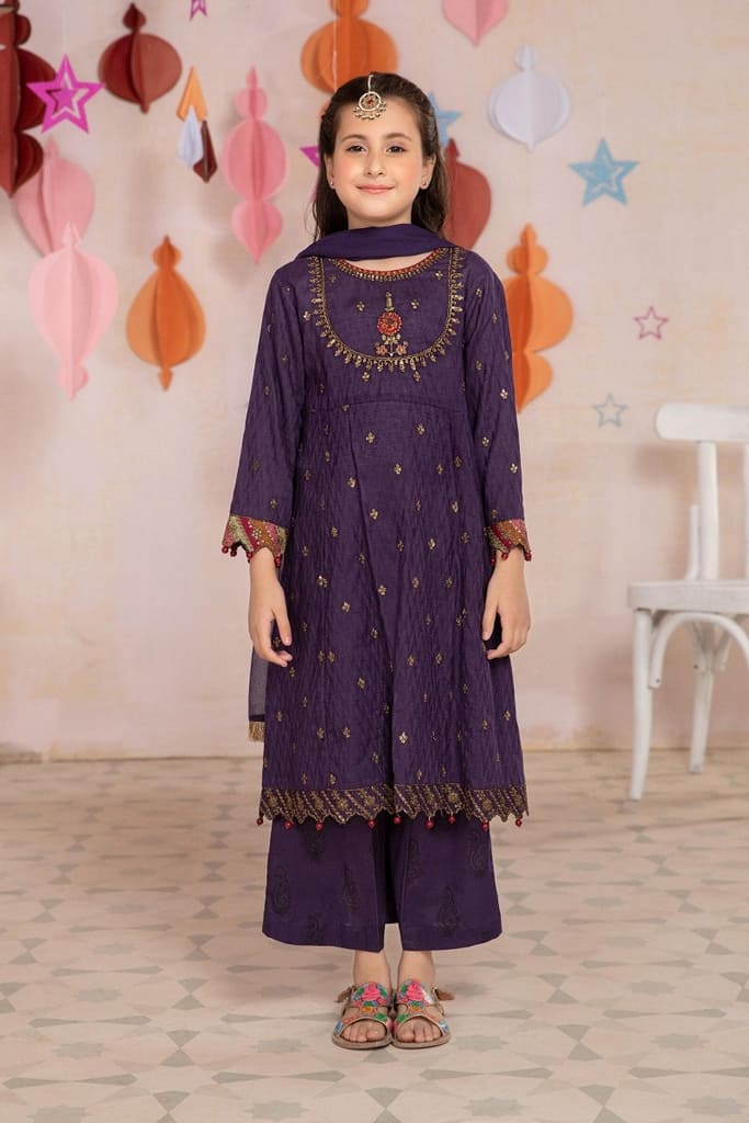 MARIA B   MOMMY N ME/KIDS Collection   Suit Purple MKD-EA21-18