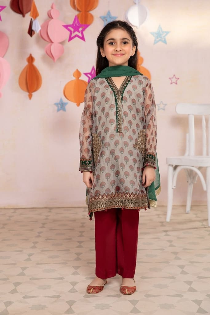 MARIA B | MOMMY N ME/KIDS Collection | Suit Grey MKD-EA21-19
