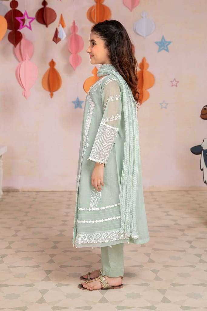 MARIA B | MOMMY N ME/KIDS Collection | Suit Sea Green MKD-EA21-20