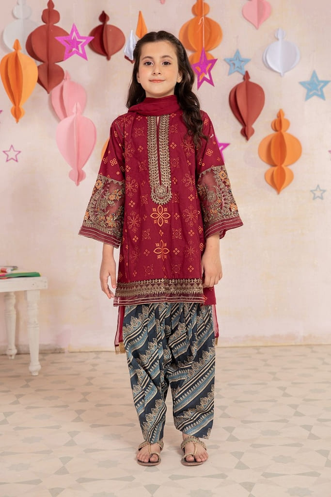 MARIA B | MOMMY N ME/KIDS Collection | Suit Red MKD-EA21-21