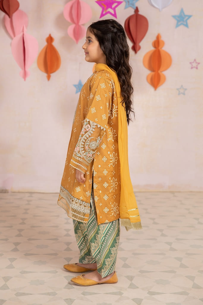 MARIA B | MOMMY N ME/KIDS Collection | Suit Yellow MKD-EA21-21