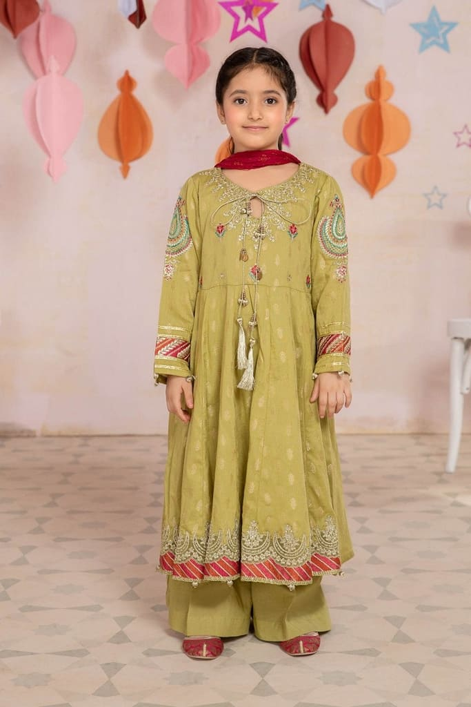 MARIA B | MOMMY N ME/KIDS Collection | Suit Lime Green MKD-EA21-22