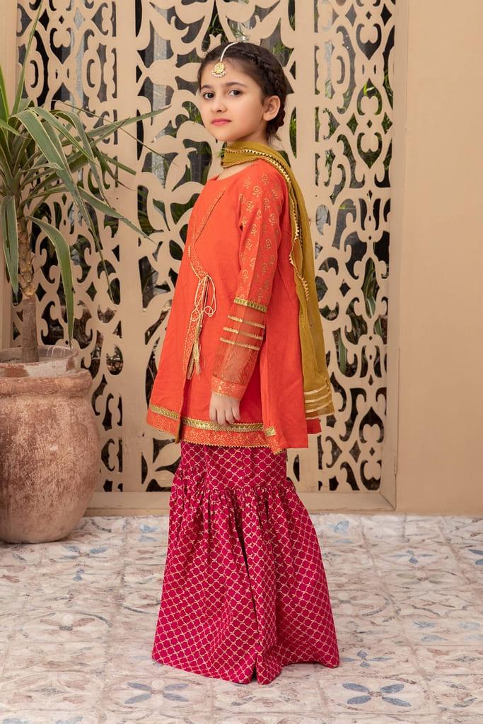 MARIA B | KIDS Collection | Suit Orange MKD-EF21-15