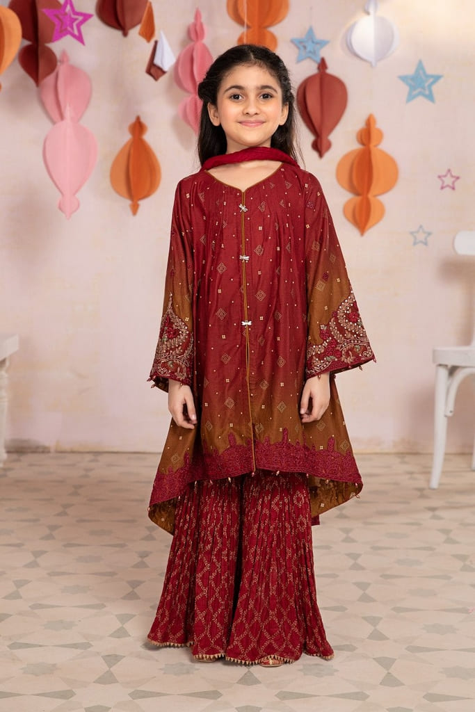 MARIA B | MOMMY N ME/KIDS Collection | Suit Maroon MKD-EF21-04