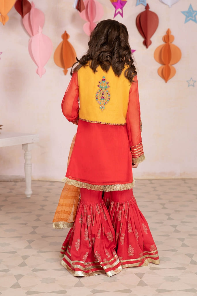 MARIA B   KIDS Collection   Suit Red MKS-EA21-05