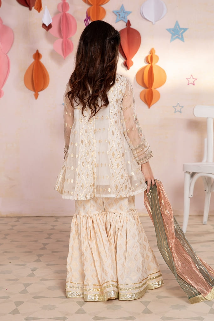 MARIA B   KIDS Collection   Suit Off White MKS-EA21-07