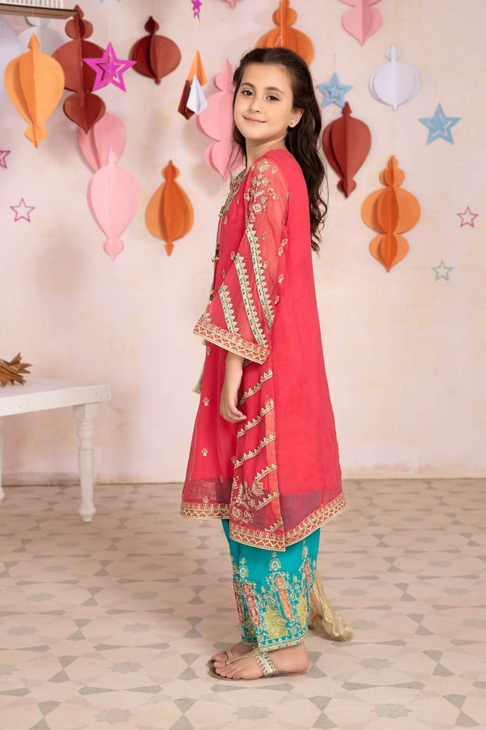 MARIA B   MOMMY N ME/KIDS Collection   Suit Carrot Pink MKS-EA21-17