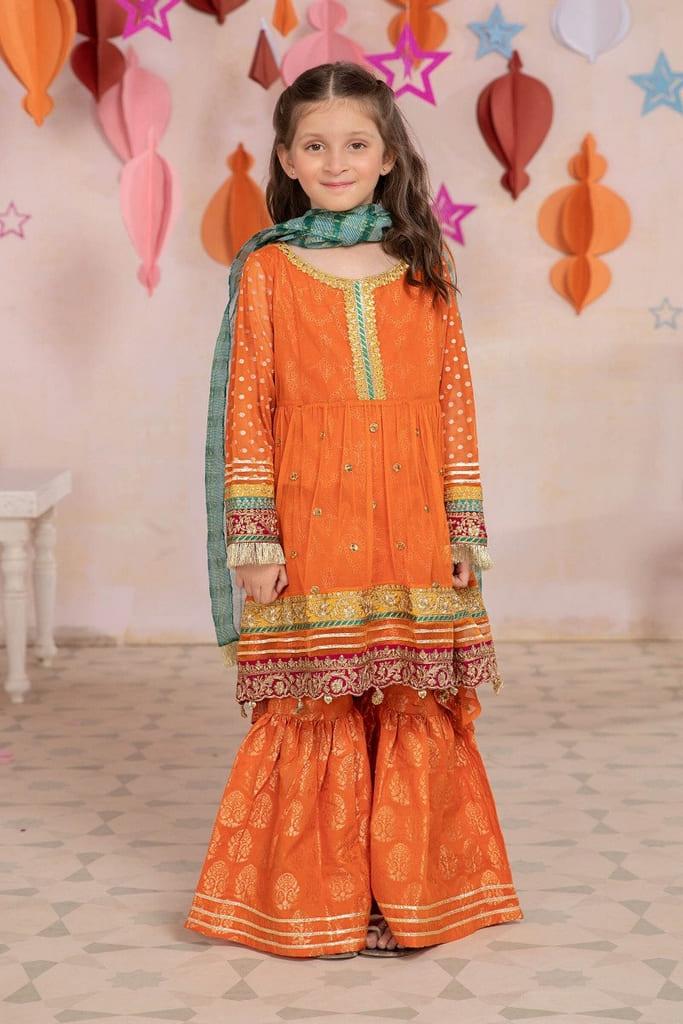 MARIA B | KIDS Collection | Suit Orange MKS-EA21-26