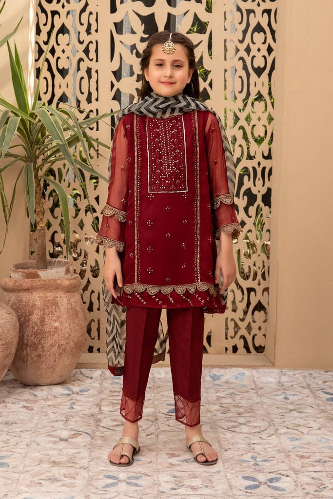 MARIA B   MOMMY N ME/KIDS Collection   Suit Maroon MKS-EF21-22