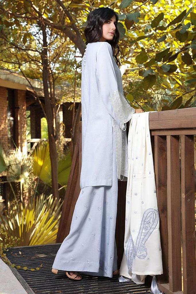MOTIFZ | EMBROIDERED KARANDI Collection | 2408-BLUE-HAZE