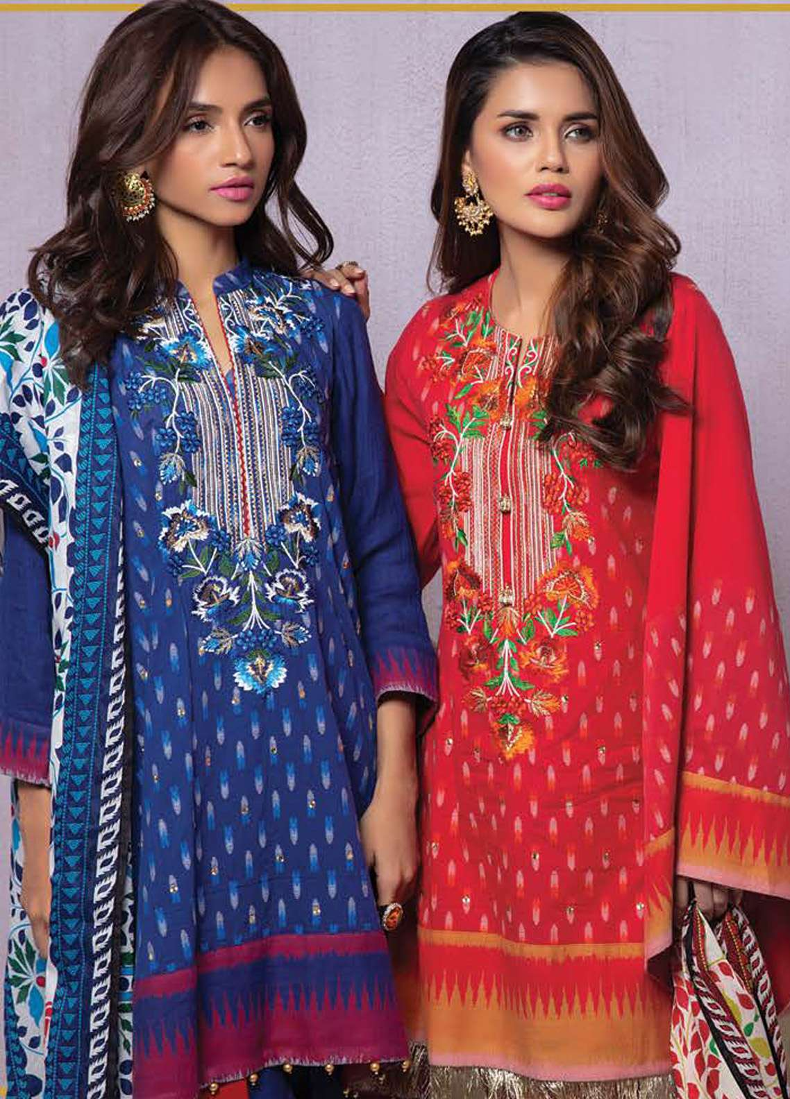 ORIENT | EMBROIDERED LAWN Collection | 171-A RED