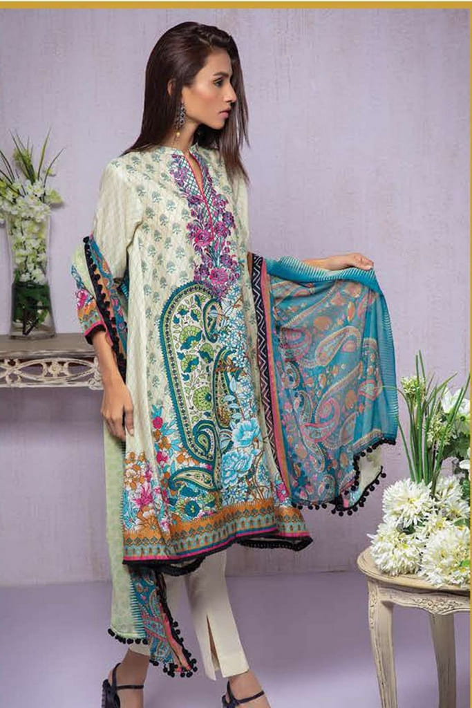 ORIENT | EMBROIDERED LAWN Collection | 206-B
