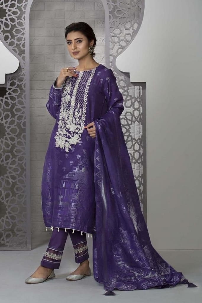 SAPPHIRE | LAWN Collection | Purple Sky
