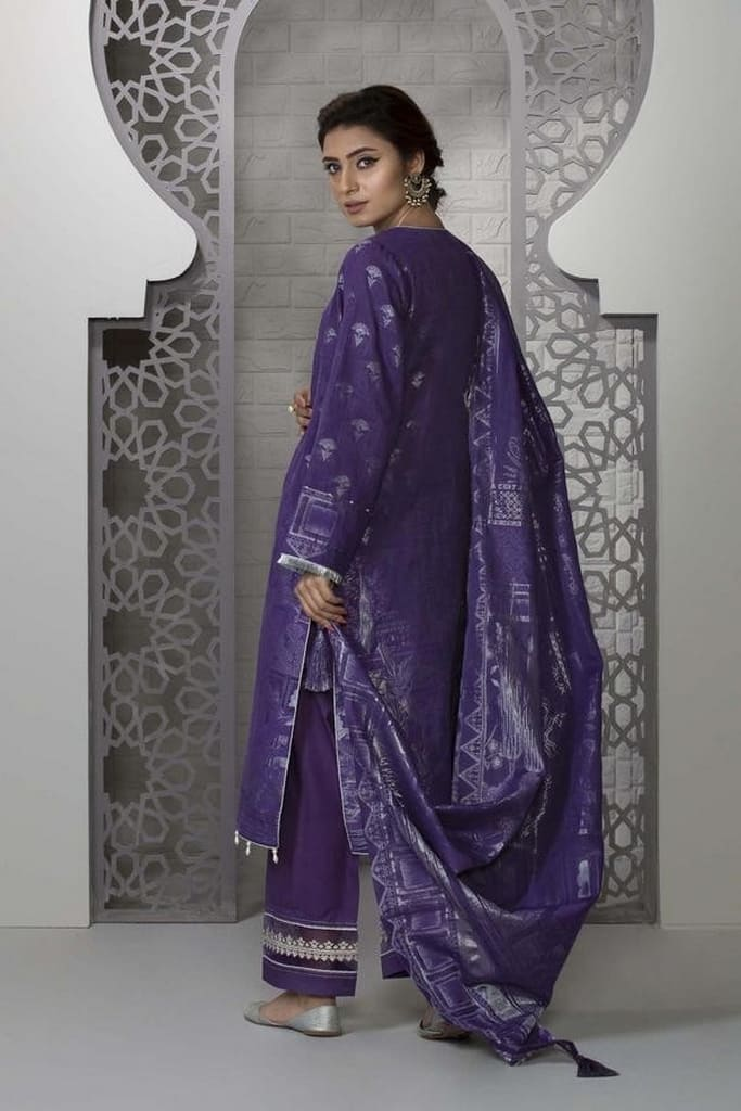 SAPPHIRE   LAWN Collection   Purple Sky