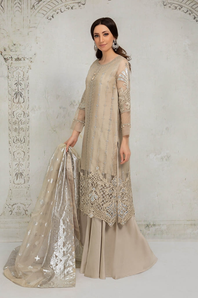MARIA B | EVENING WEAR Collection | Suit Grey SF-EA21-02