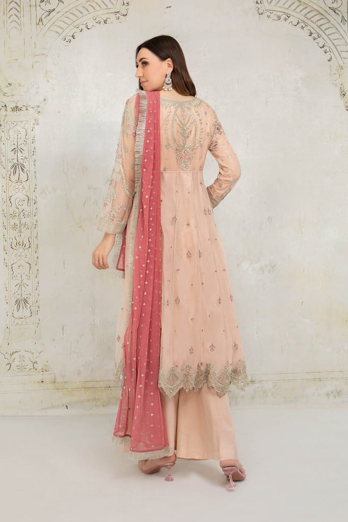 MARIA B   EVENING WEAR Collection   Suit Peach SF-EA21-06