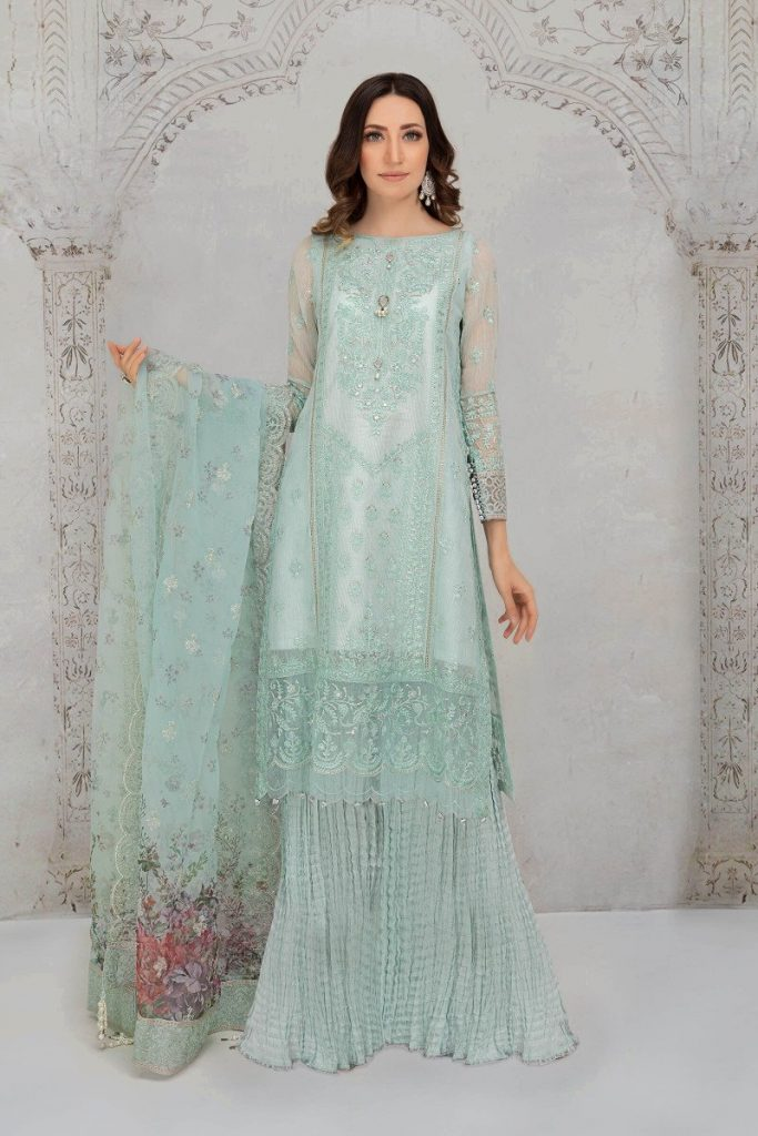 MARIA B | READY TO WEAR Collection | Suit Sea Green SF-EA21-07