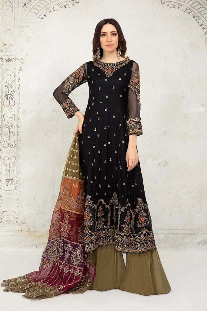 MARIA B   EVENING WEAR Collection   Suit Black SF-EA21-12